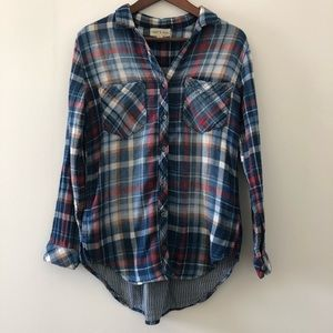 Cloth & Stone cotton flannel button down size XS